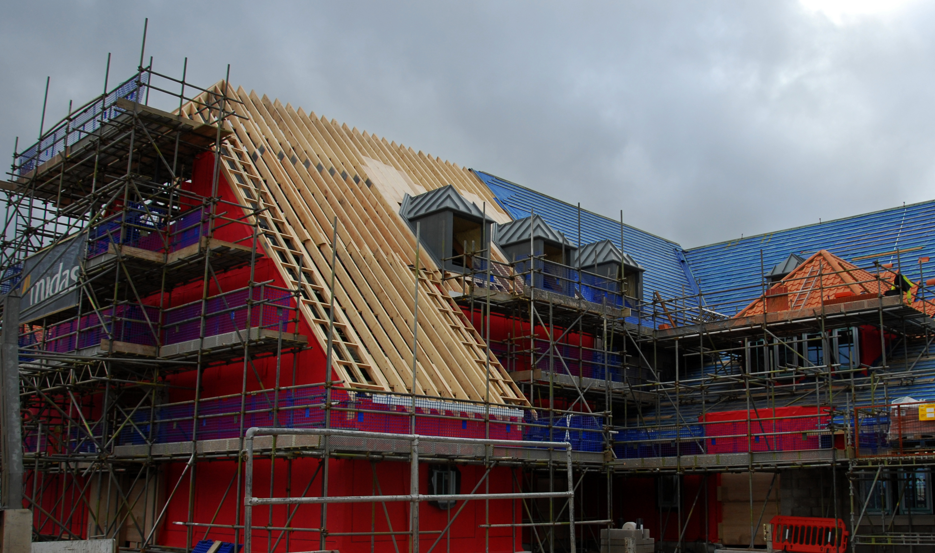 roof and timber frame